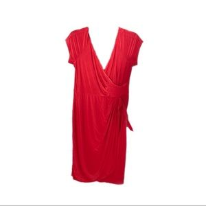 Tiana B. Red Ruched Side Dress. MAKE AN OFFER!